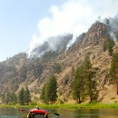 How hot was the Salmon River? Well, the rocks were on fire.