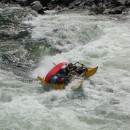 Like grizzly bears battling for dominance, two river guides SUP to the death for the last cold beer.