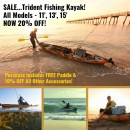 SALE…Trident Fishing Kayak!