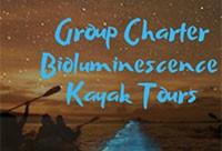 Group Charter Bioluminescence Evening Kayak Tours!