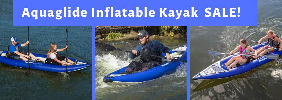 Aquaglide Inflatable Kayak SALE!